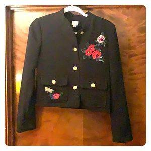 A New Day black embroidered blazer